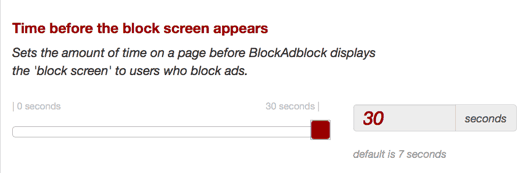 Adblock visitors handle website