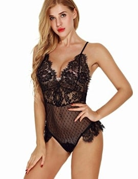 Aranmei Lingerie for Women Teddy One Piece