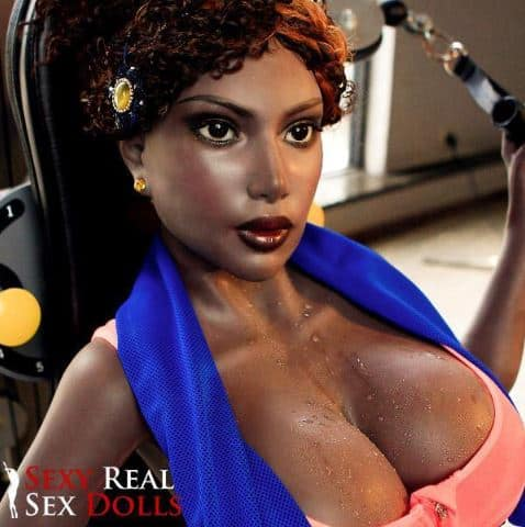 Black Huge Tits 151cm (4ft11') Silicone Sex Doll